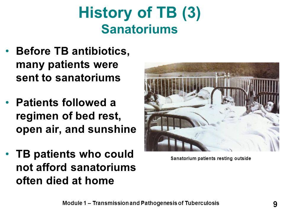 History of TB (3) Sanatoriums