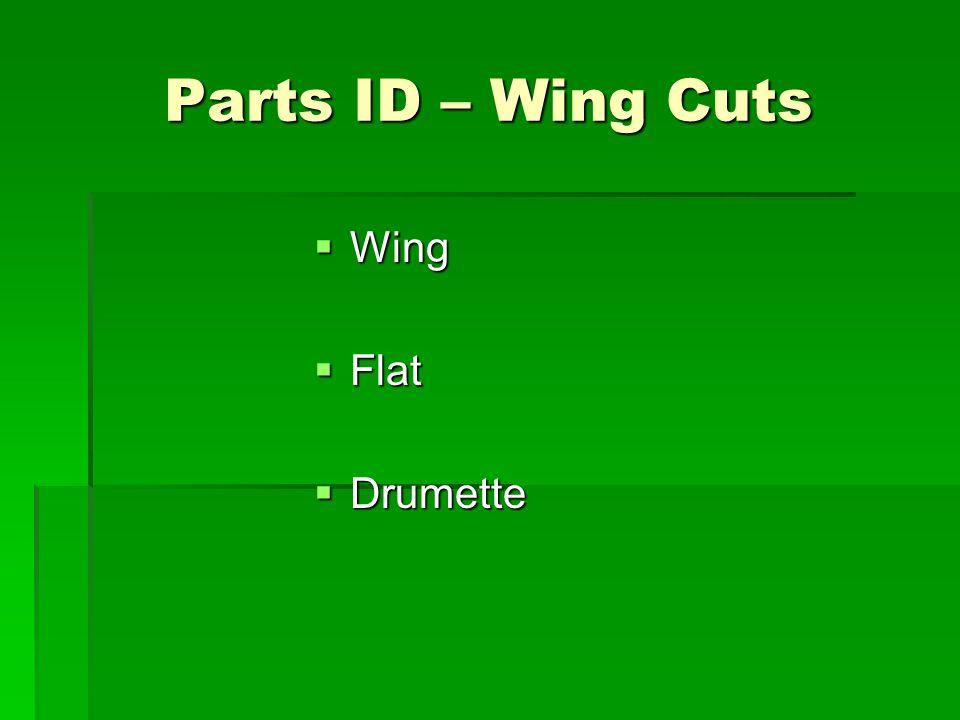 Parts ID – Wing Cuts Wing Flat Drumette