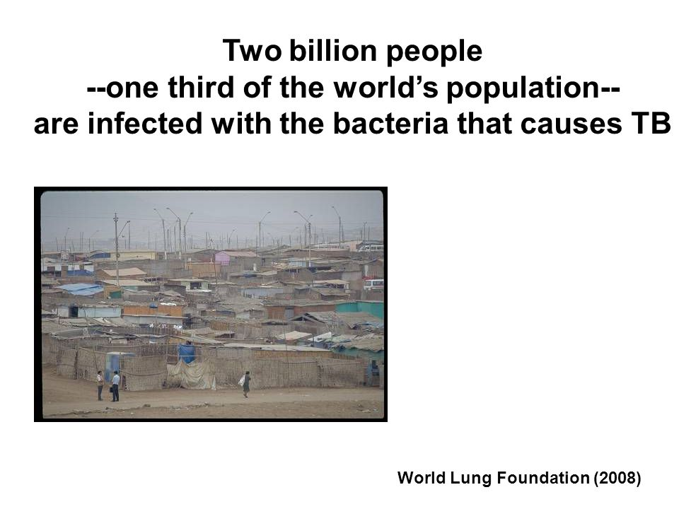 --one third of the world's population--