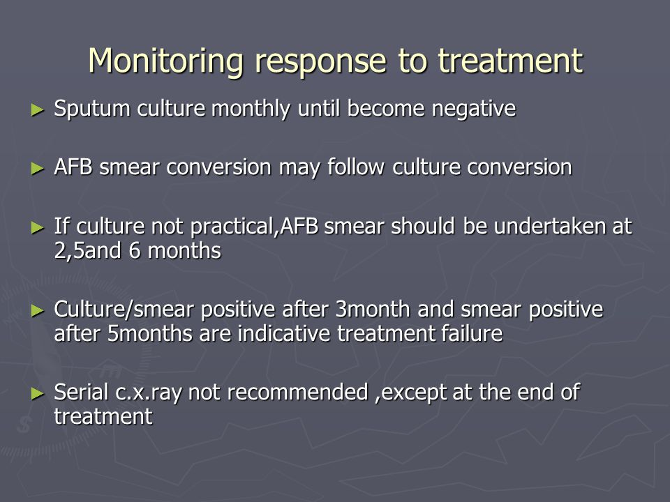 Monitoring response to treatment