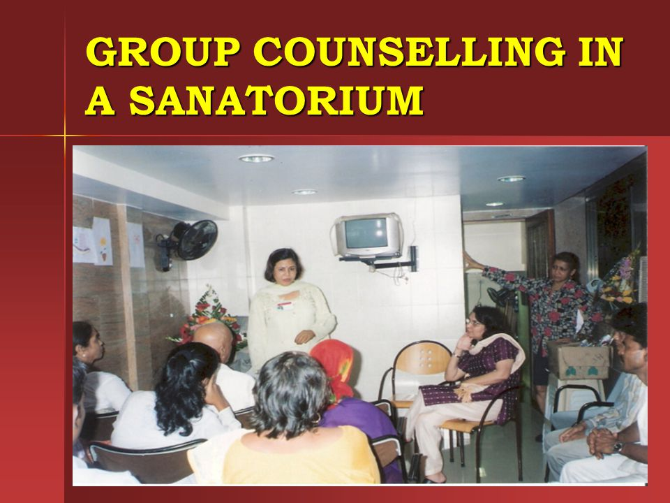 GROUP COUNSELLING IN A SANATORIUM