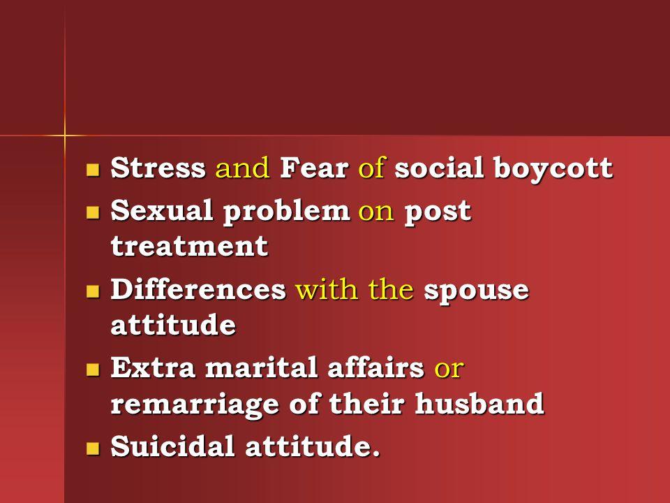 Stress and Fear of social boycott