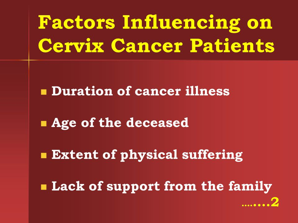 Factors Influencing on Cervix Cancer Patients