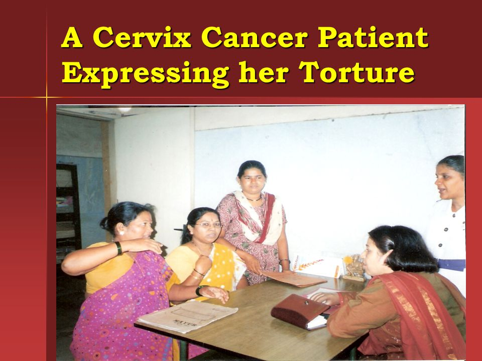 A Cervix Cancer Patient Expressing her Torture