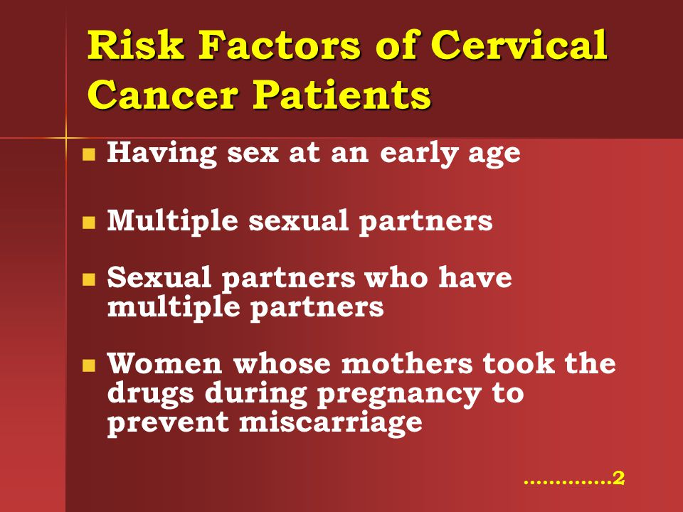 Risk Factors of Cervical Cancer Patients