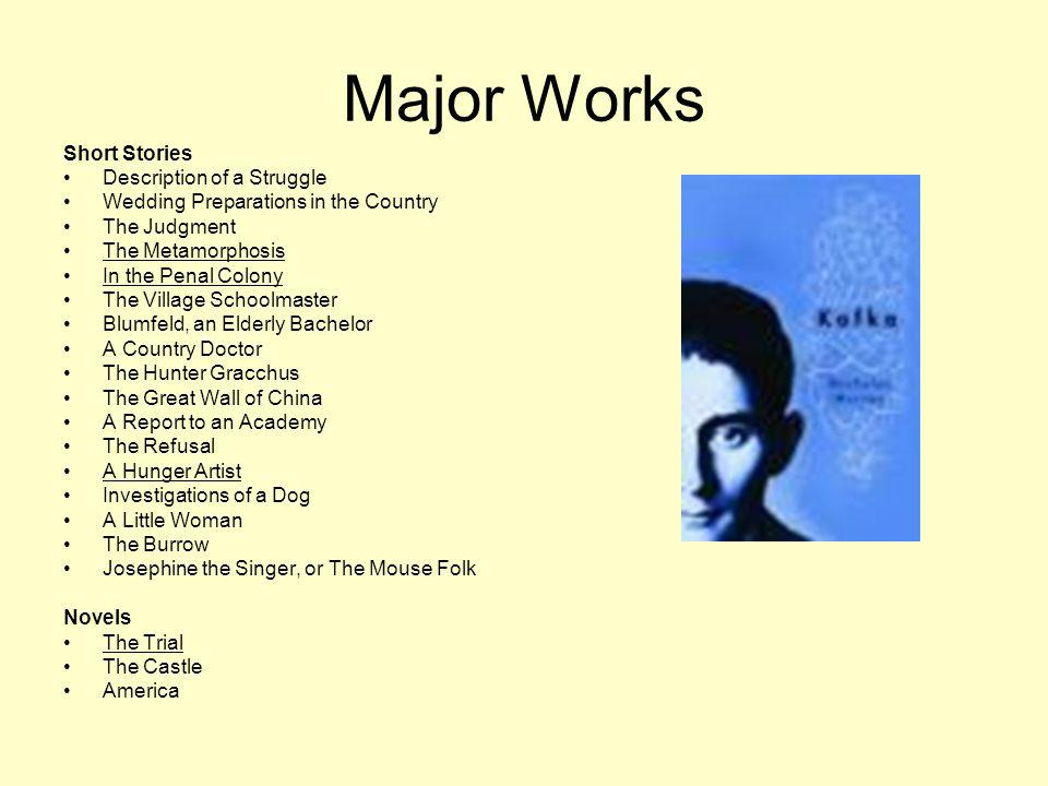 Major Works Short Stories Description of a Struggle