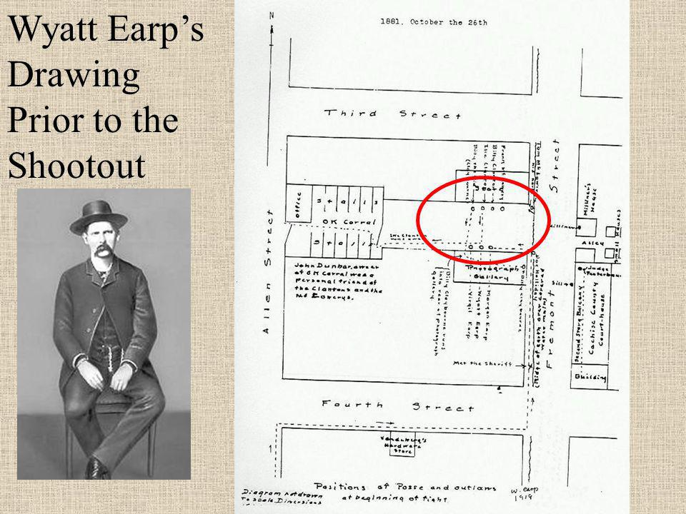 Wyatt Earp's Drawing Prior to the Shootout