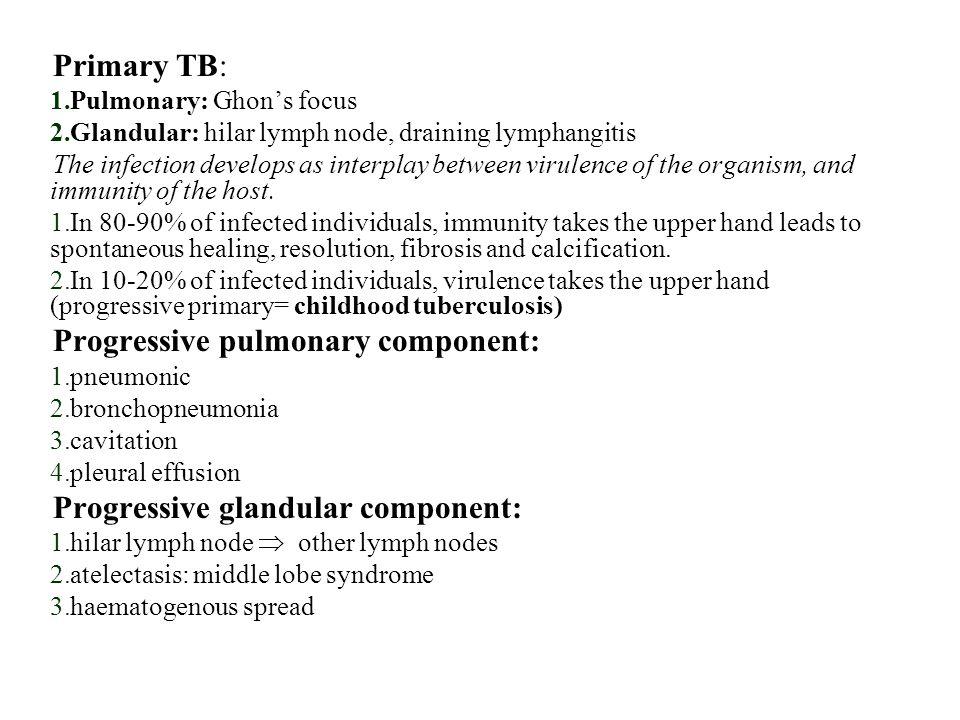 Progressive pulmonary component: