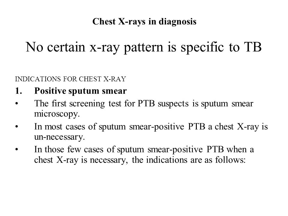 Chest X-rays in diagnosis