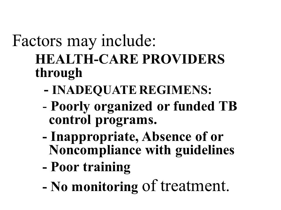 Factors may include: HEALTH-CARE PROVIDERS through