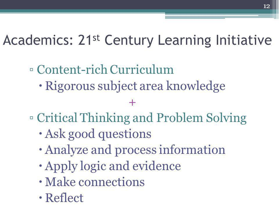 Academics: 21st Century Learning Initiative
