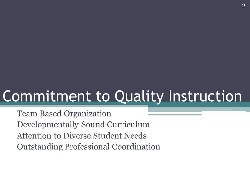Commitment to Quality Instruction