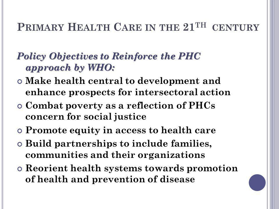 Primary Health Care in the 21th century