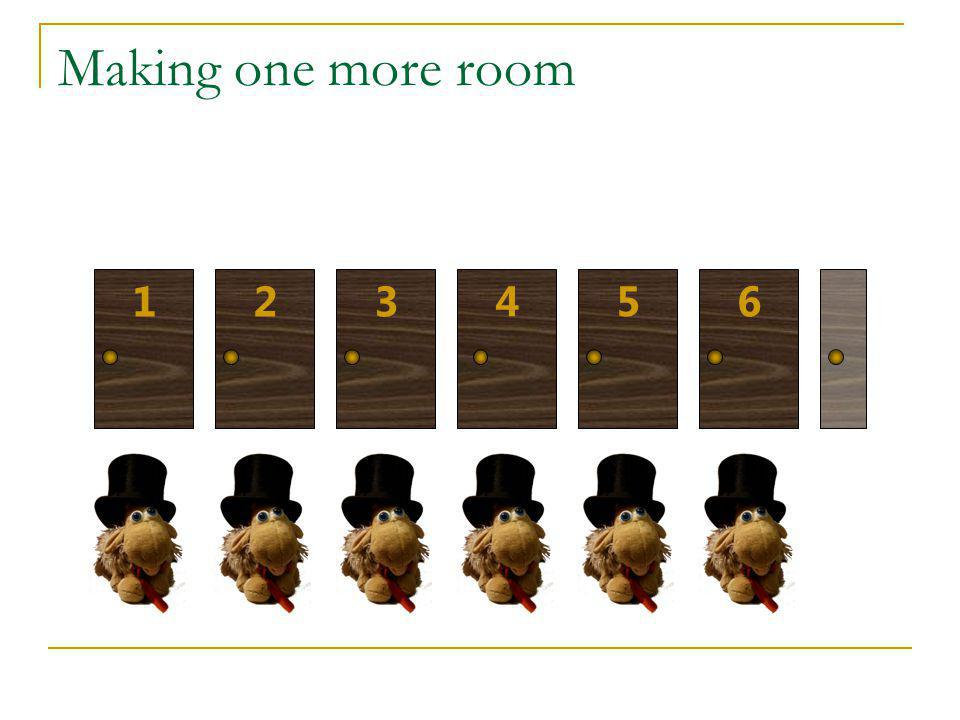 Making one more room 1 2 3 4 5 6