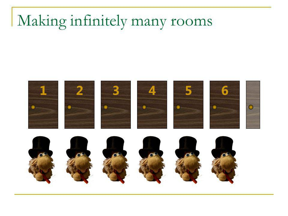 Making infinitely many rooms
