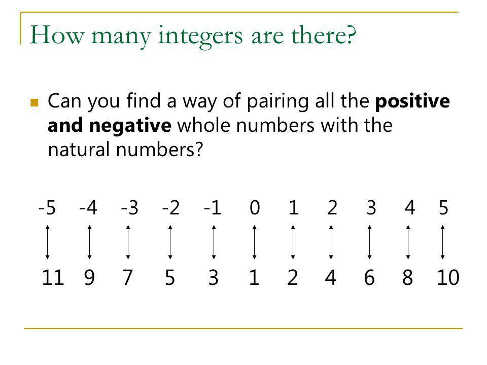 How many integers are there