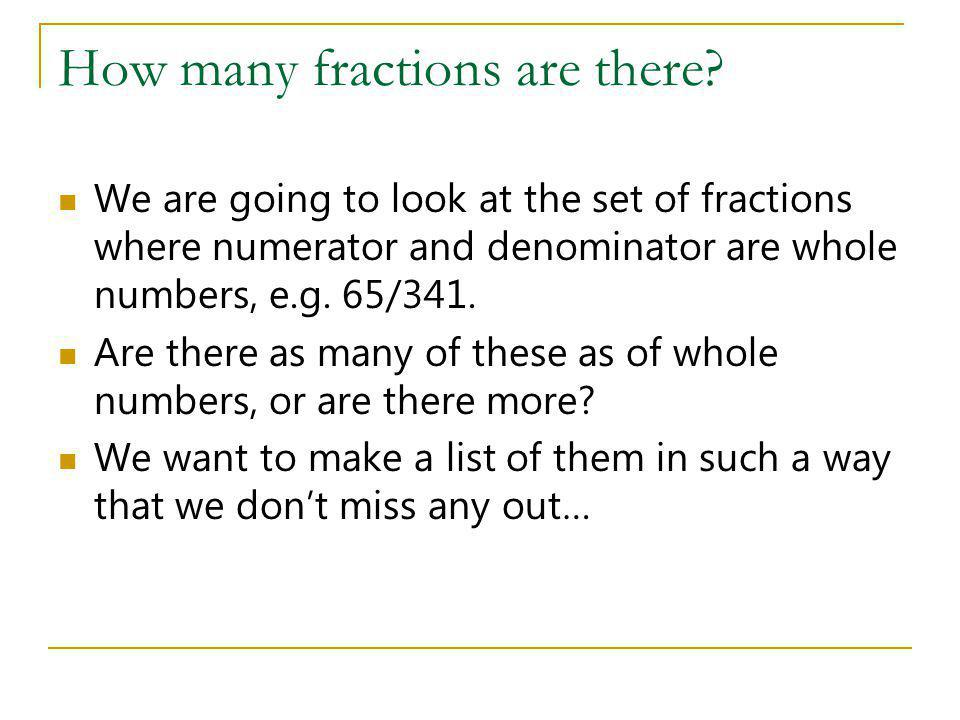 How many fractions are there