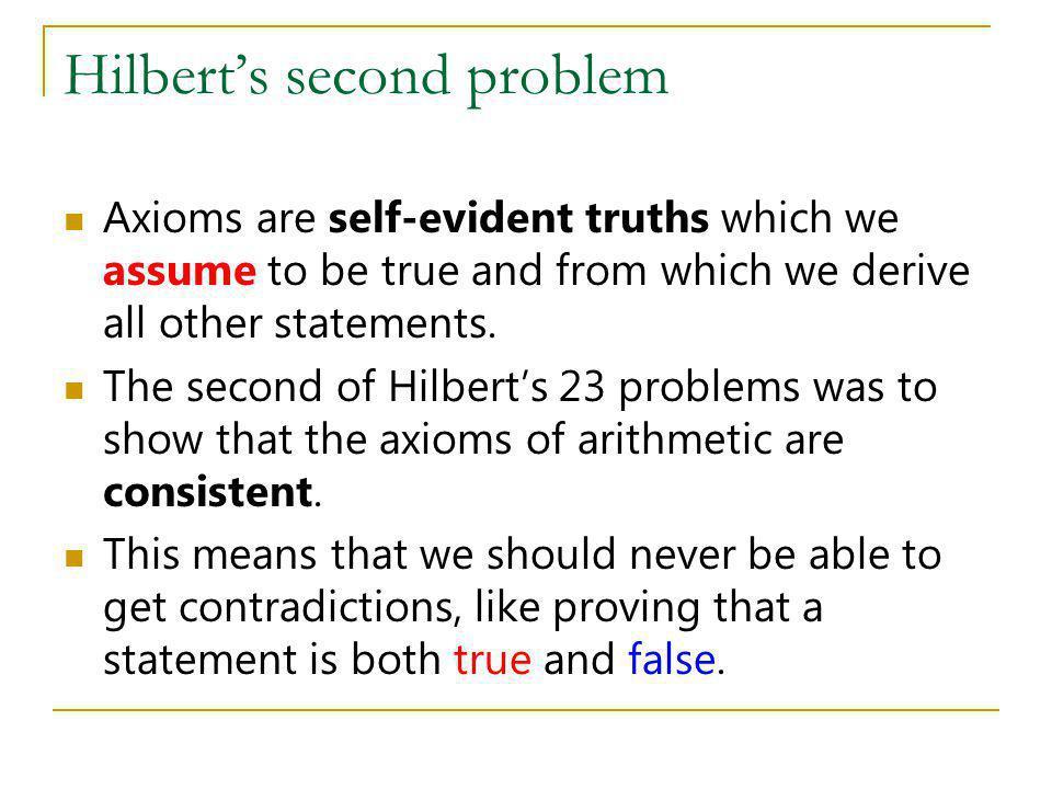 Hilbert's second problem