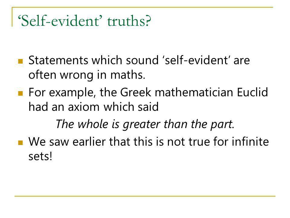 'Self-evident' truths