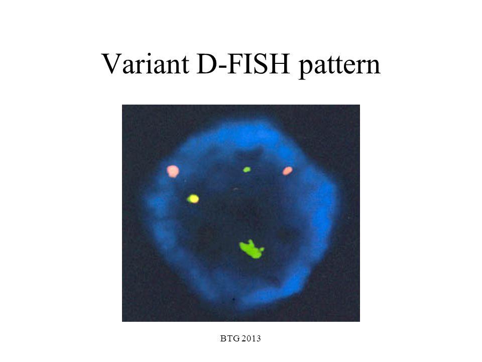 Variant D-FISH pattern