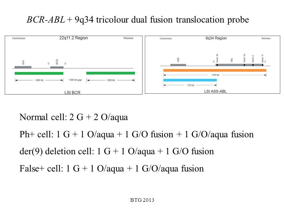 BCR-ABL + 9q34 tricolour dual fusion translocation probe
