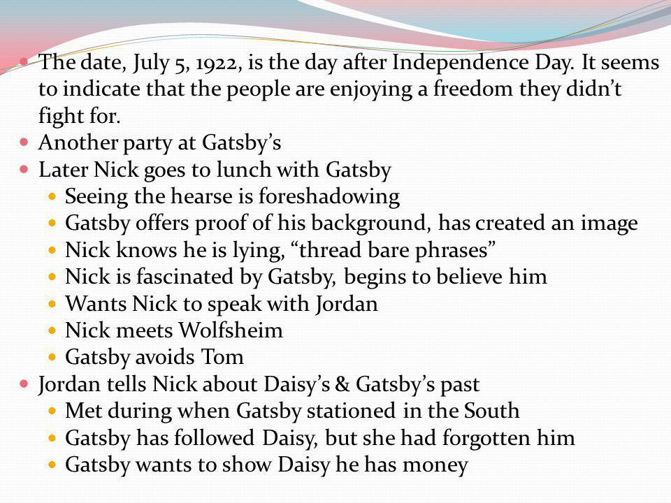 The date, July 5, 1922, is the day after Independence Day