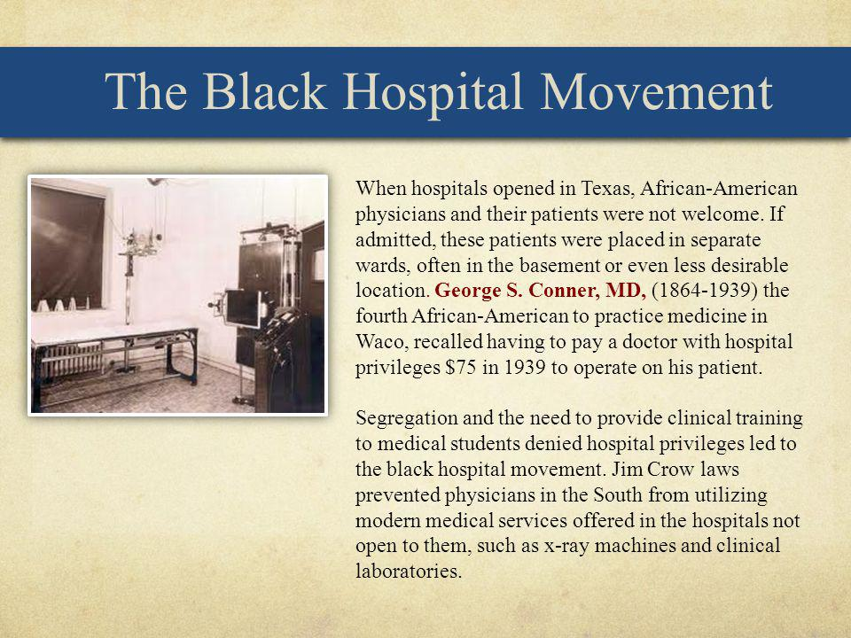 The Black Hospital Movement