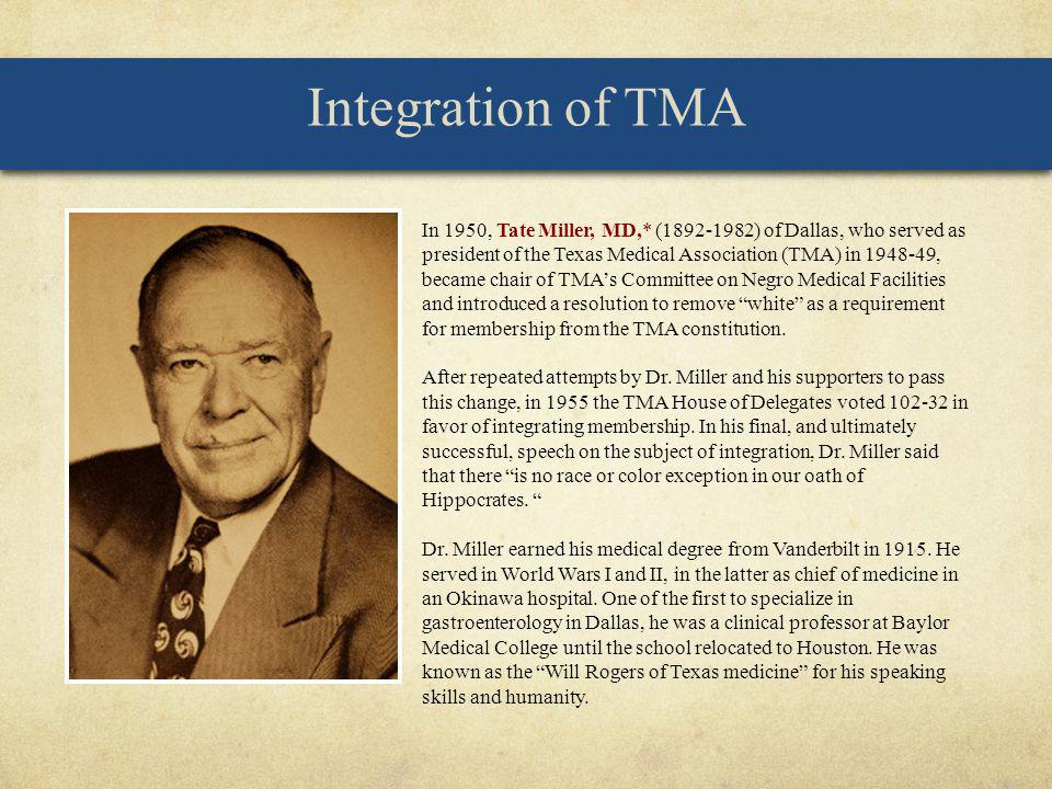 Integration of TMA