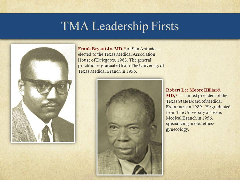 TMA Leadership Firsts