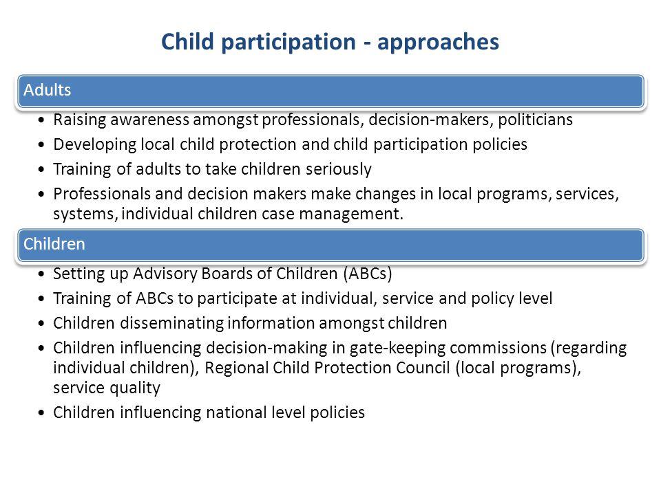Child participation - approaches