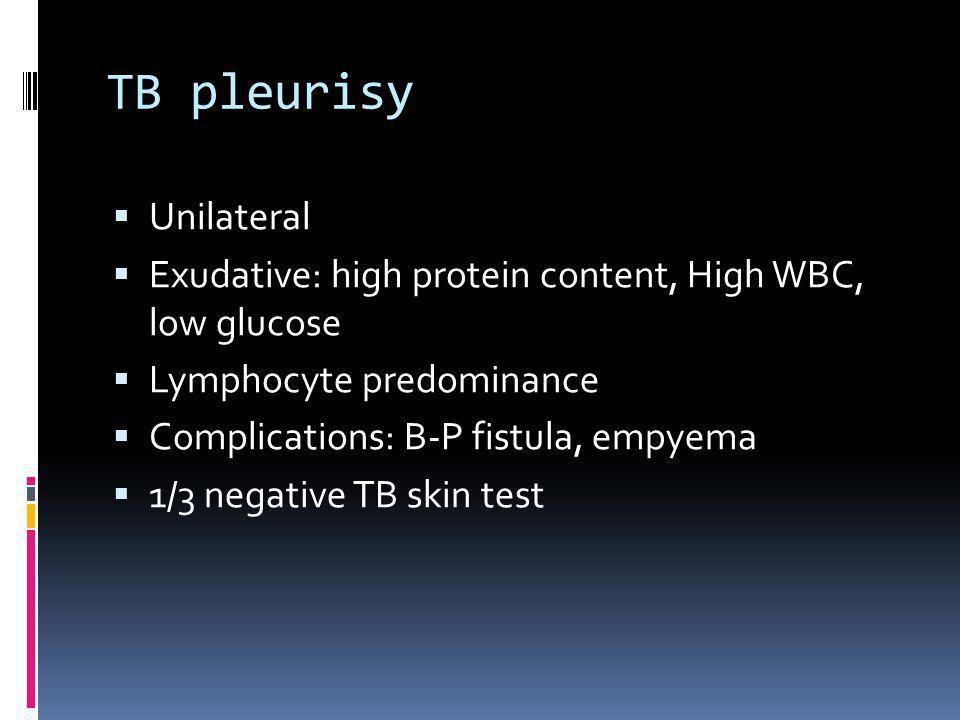 TB pleurisy Unilateral