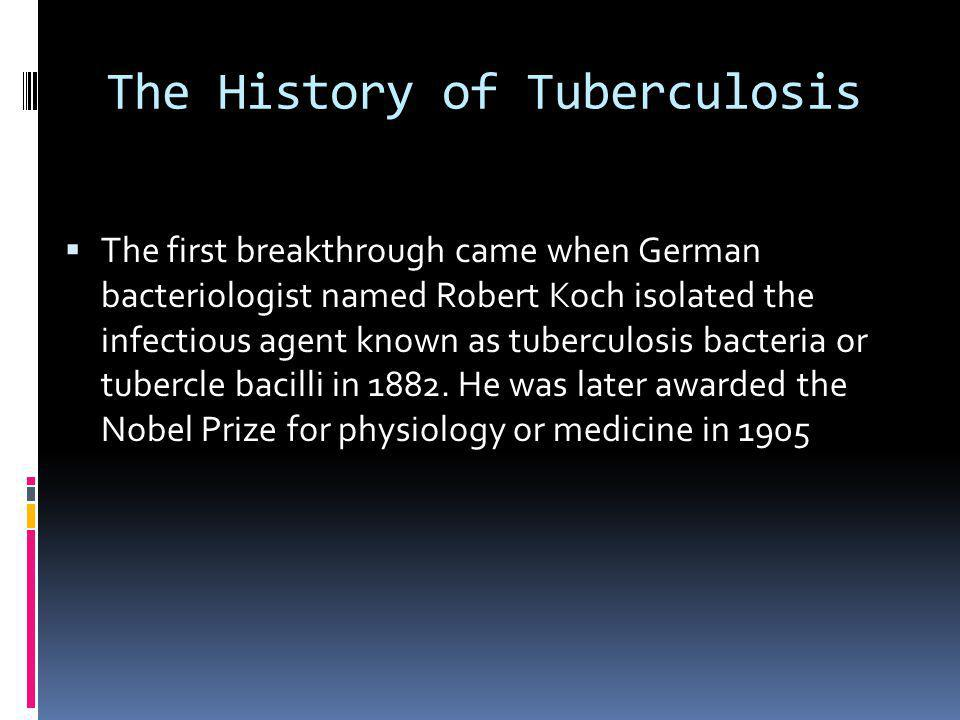 The History of Tuberculosis