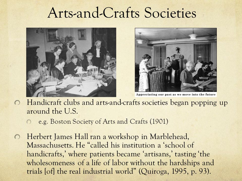Arts-and-Crafts Societies