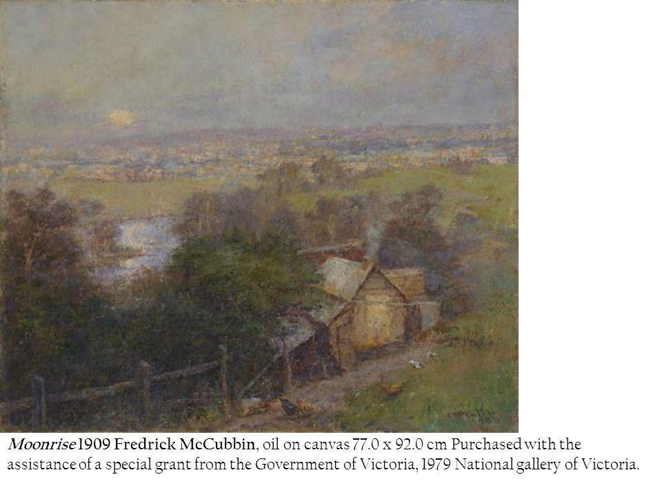 Moonrise 1909 Fredrick McCubbin, oil on canvas 77. 0 x 92