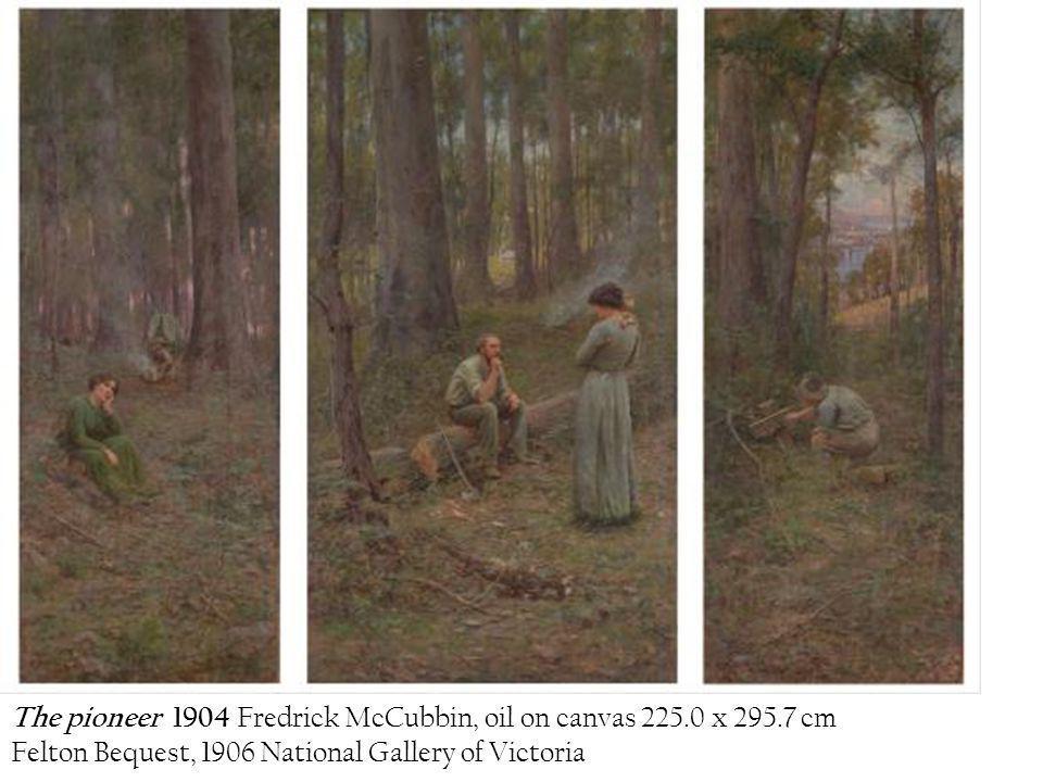 The pioneer 1904 Fredrick McCubbin, oil on canvas 225.0 x 295.7 cm