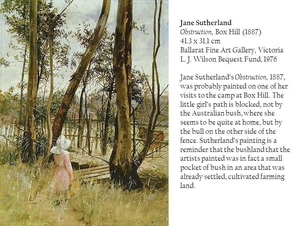 Jane Sutherland Obstruction, Box Hill (1887) 41. 3 x 31