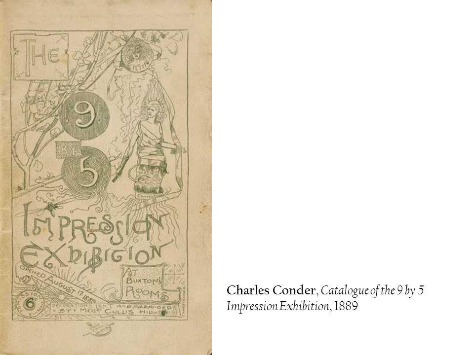 Charles Conder, Catalogue of the 9 by 5 Impression Exhibition, 1889