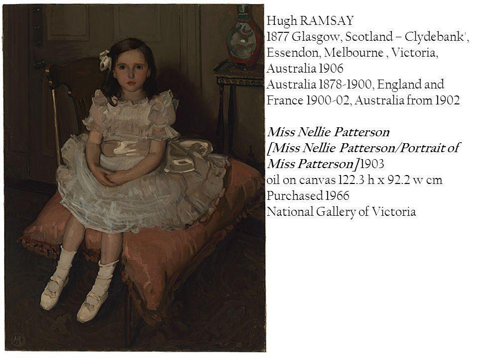 Hugh RAMSAY 1877 Glasgow, Scotland – Clydebank , Essendon, Melbourne , Victoria, Australia 1906.
