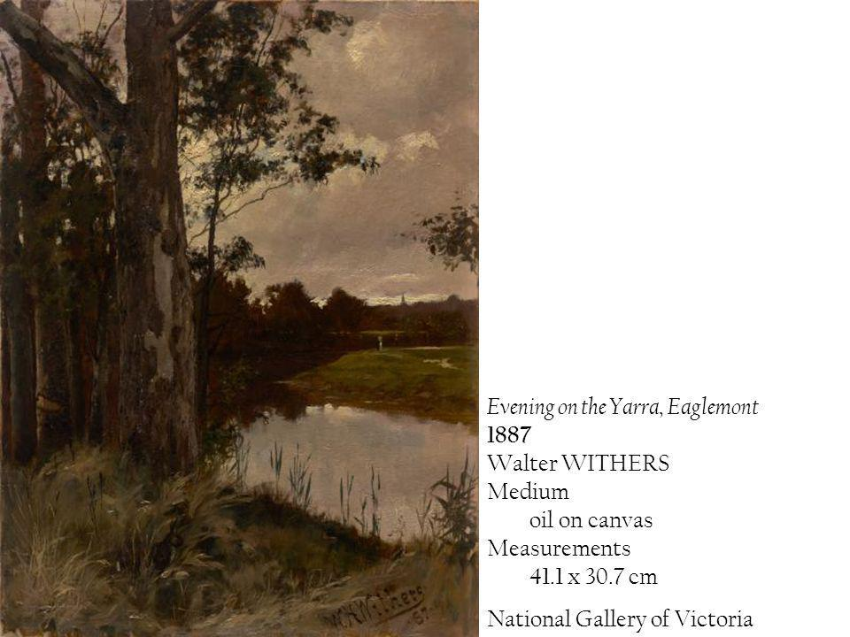Evening on the Yarra, Eaglemont 1887 Walter WITHERS Medium