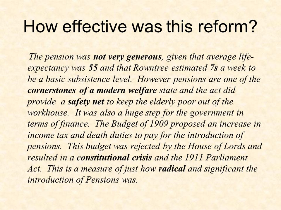How effective was this reform