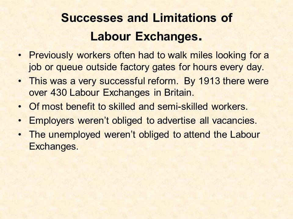 Successes and Limitations of Labour Exchanges.