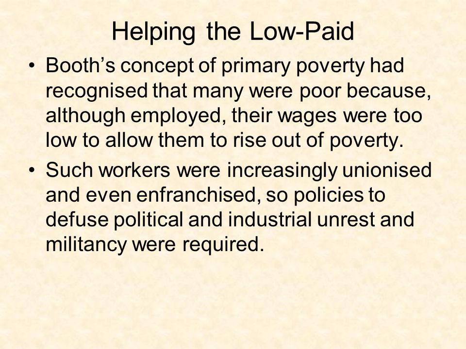 Helping the Low-Paid