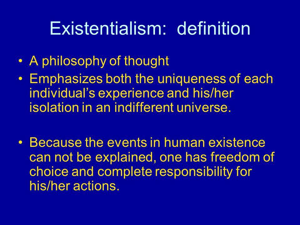 Existentialism: definition