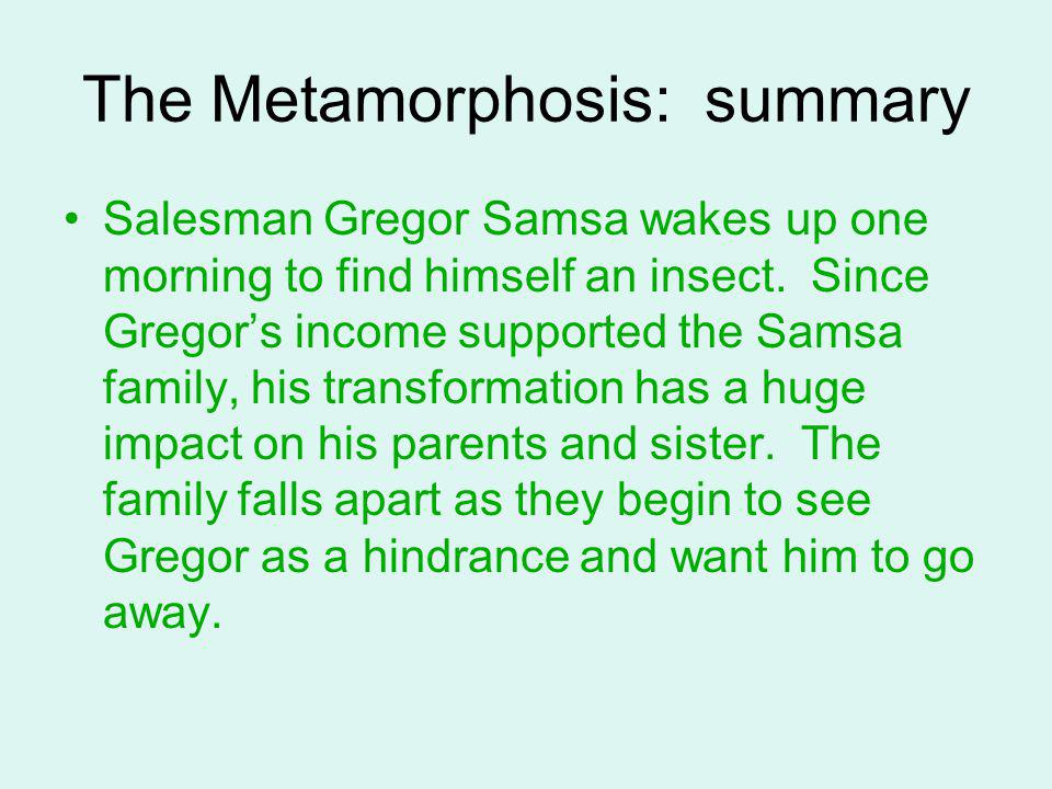 The Metamorphosis: summary