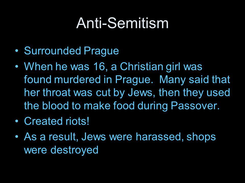 Anti-Semitism Surrounded Prague