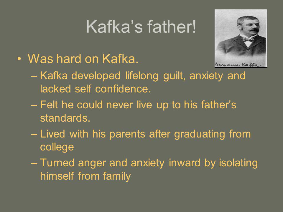 Kafka's father! Was hard on Kafka.