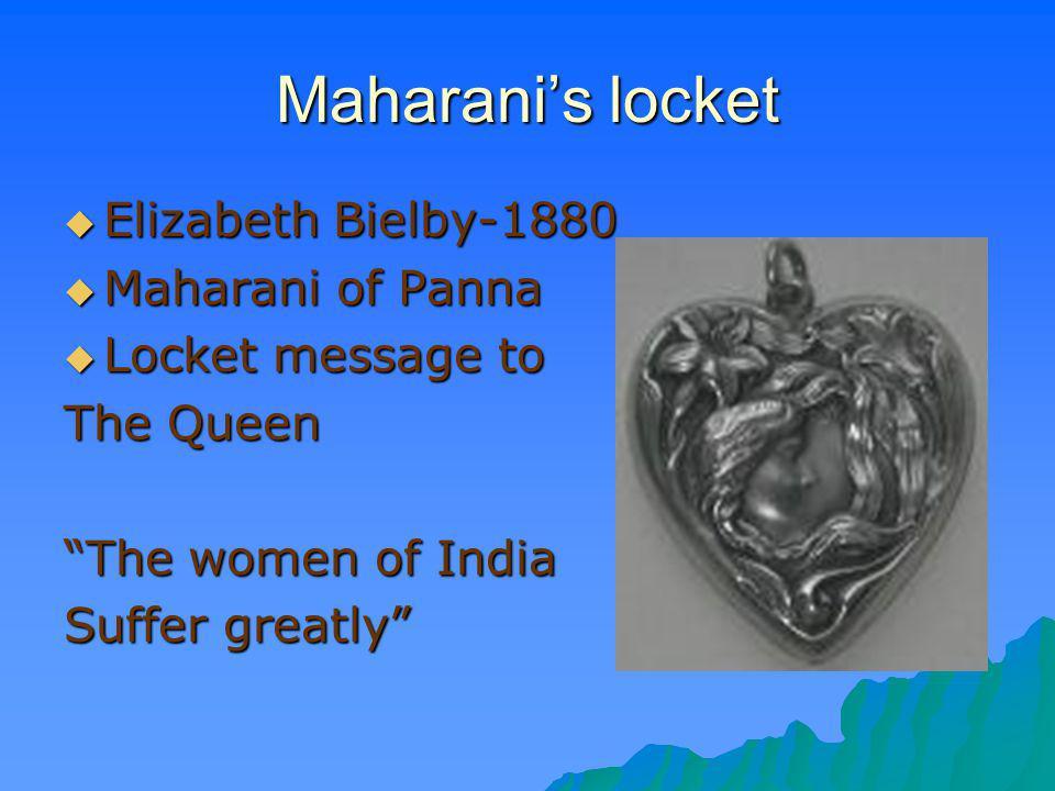 Maharani's locket Elizabeth Bielby-1880 Maharani of Panna