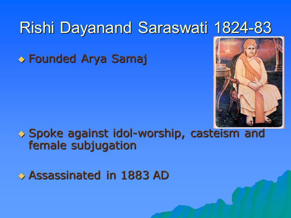 Rishi Dayanand Saraswati 1824-83