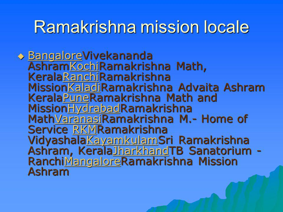 Ramakrishna mission locale