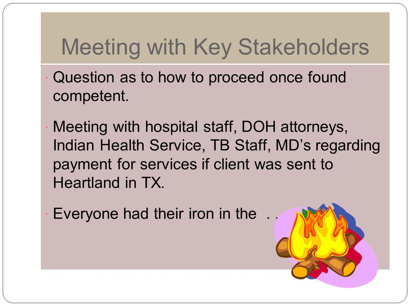 Meeting with Key Stakeholders
